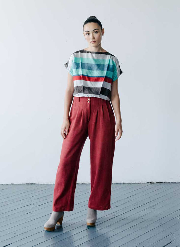 Maggie Top, festa stripe