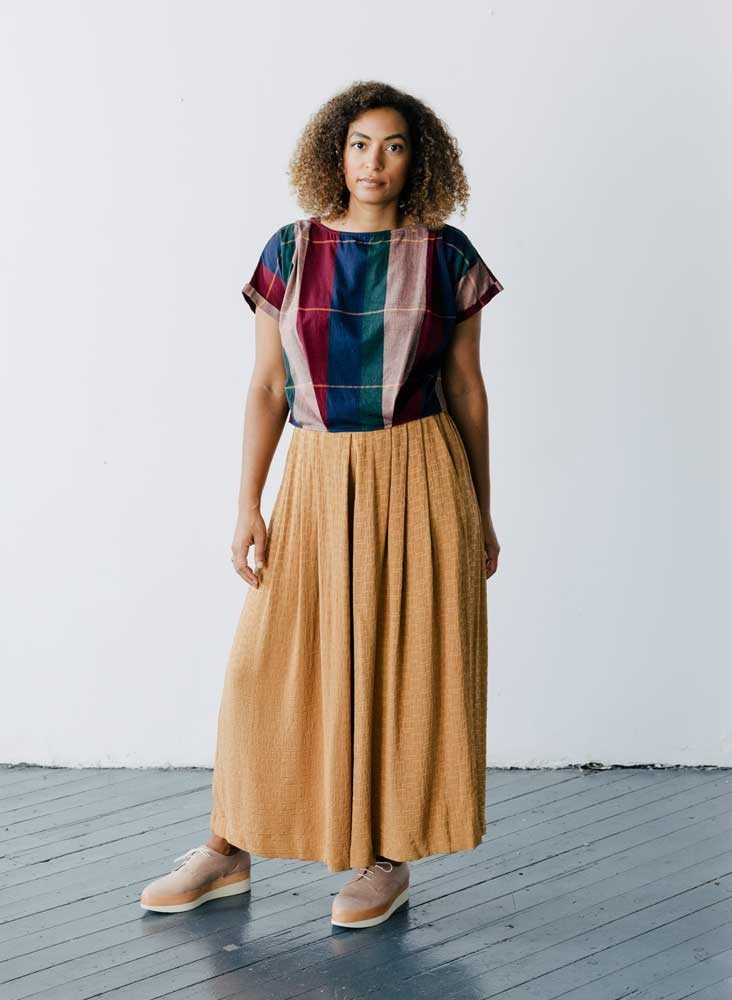 Maggie Top, rua plaid cotton woven