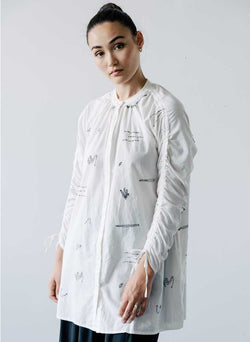 Cy Shirt Dress, black Marin embroidery