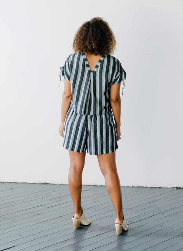 Lola Shorts, Bourge stripes