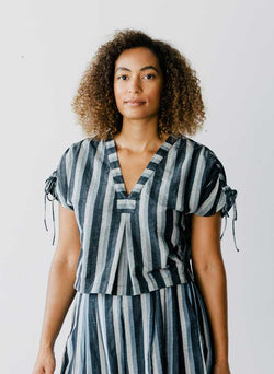 Martu Top, Bourge stripes
