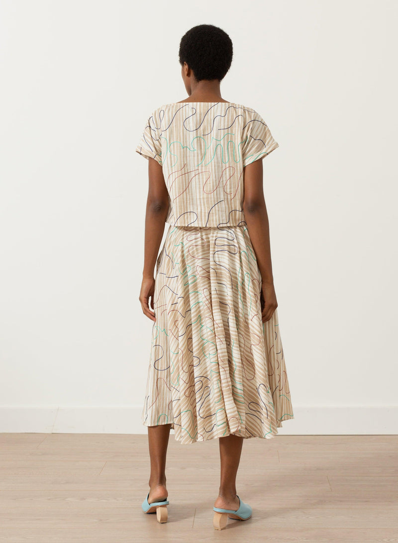 Abby Skirt, chant embroidery
