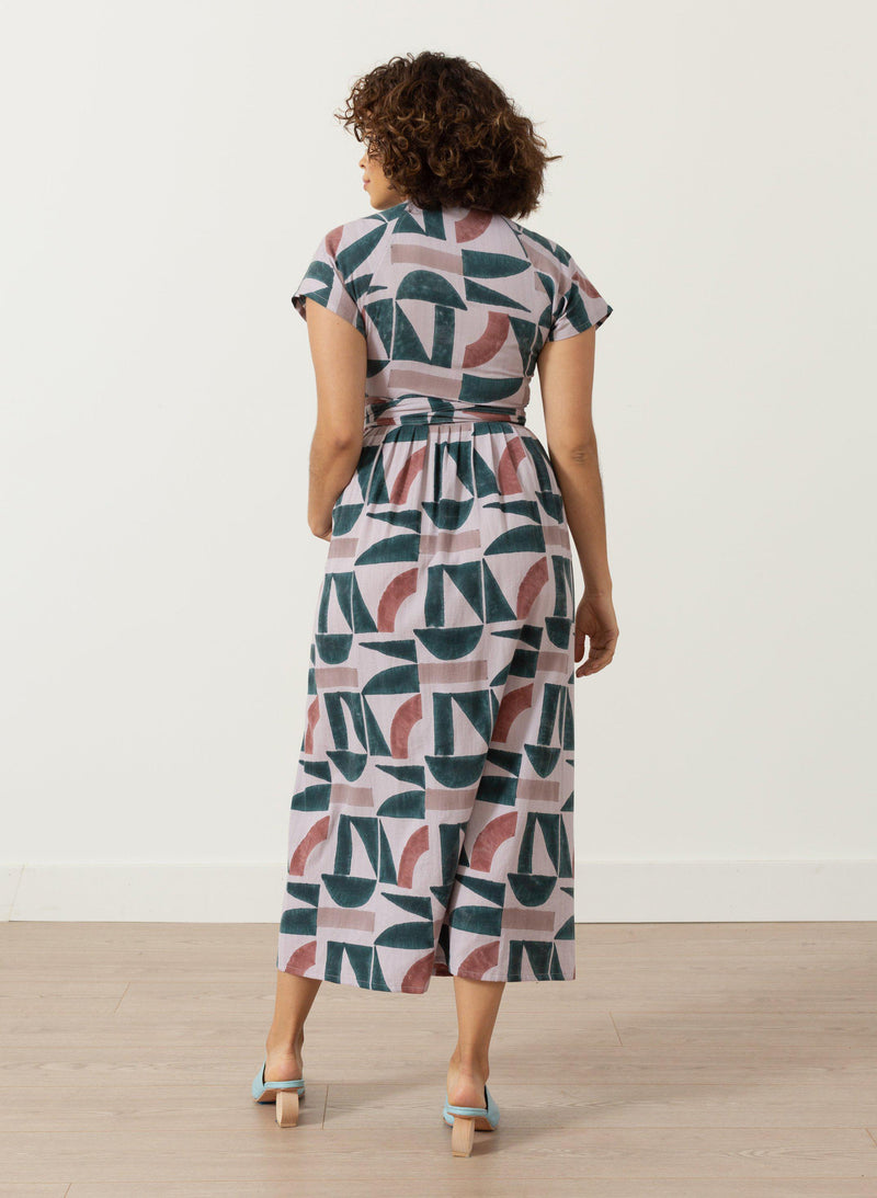 Roma Dress, lavender Kyle print