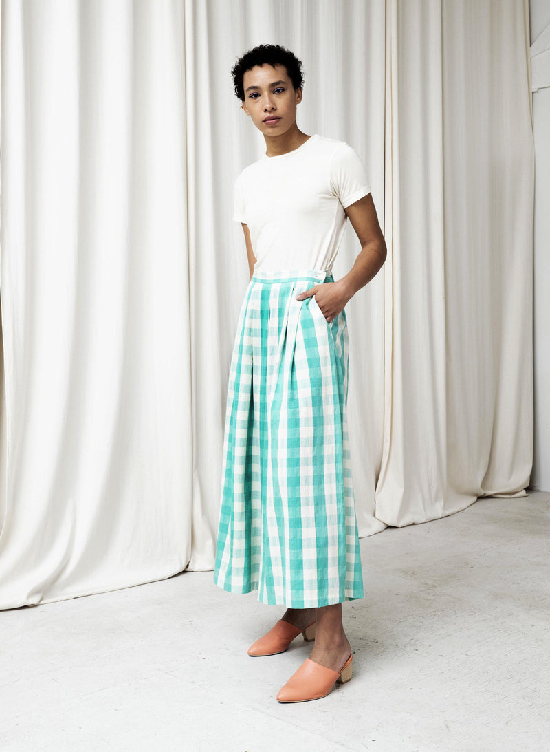 Savista Pants 2.0, mint gingham