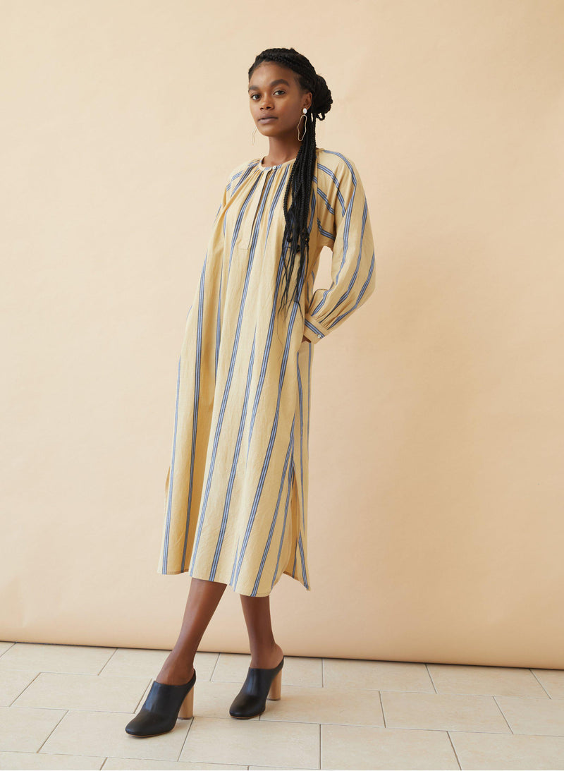 Caz Dress, shoreline stripe