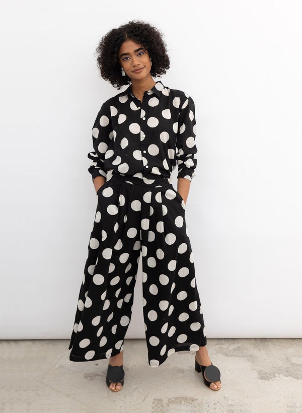 Savista Pants 2.0, black polka dot