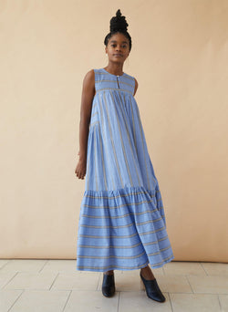 Stevie Dress, blue sky stripe