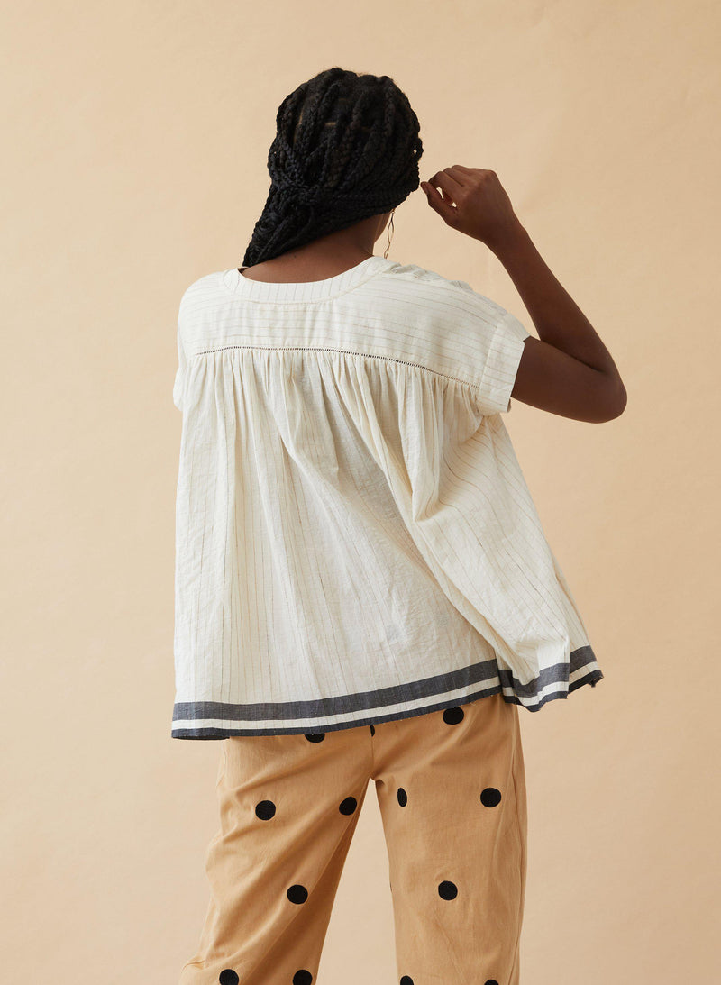 Zoe Top, ahimsa stripe