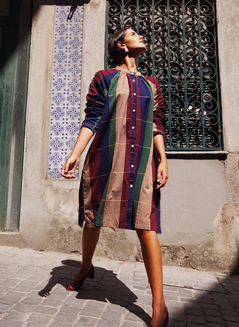Cy Shirt Dress, rua plaid cotton woven