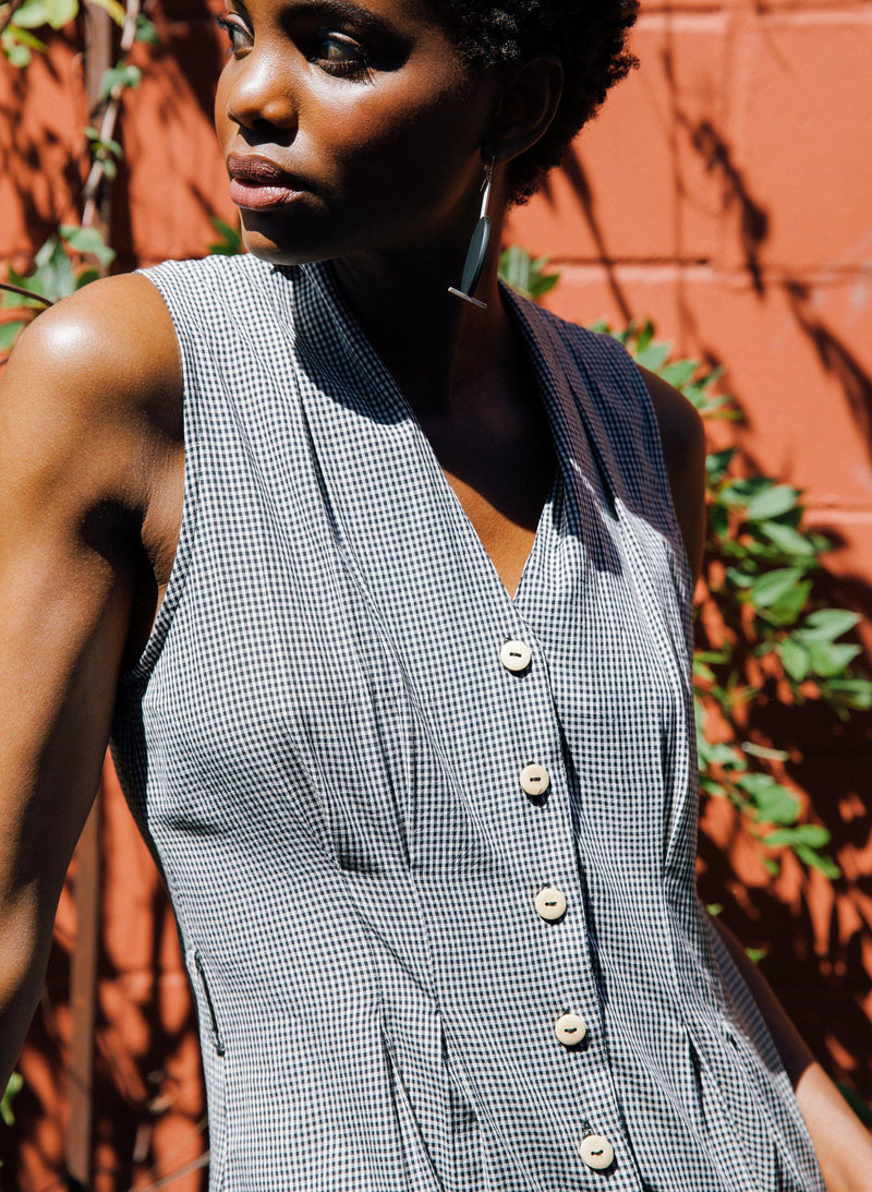Archive Sale | Simone Romper, black gingham