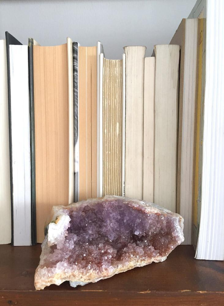 Market Finds: Amethyst with citrine crystal geode