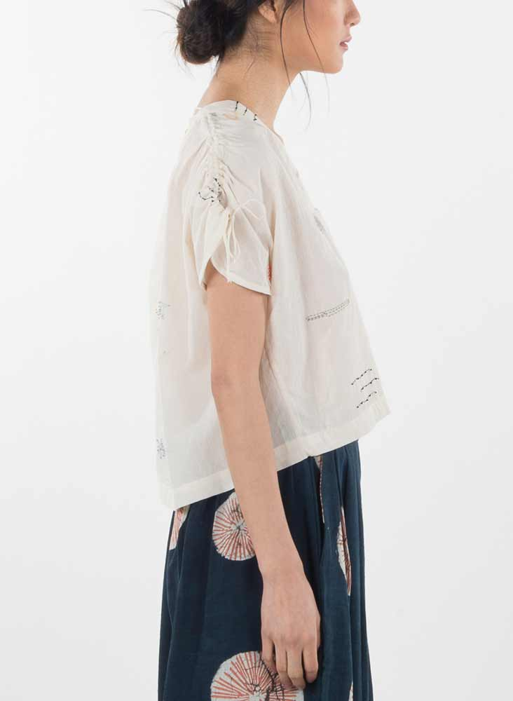 Martu Top, valley Marin embroidery