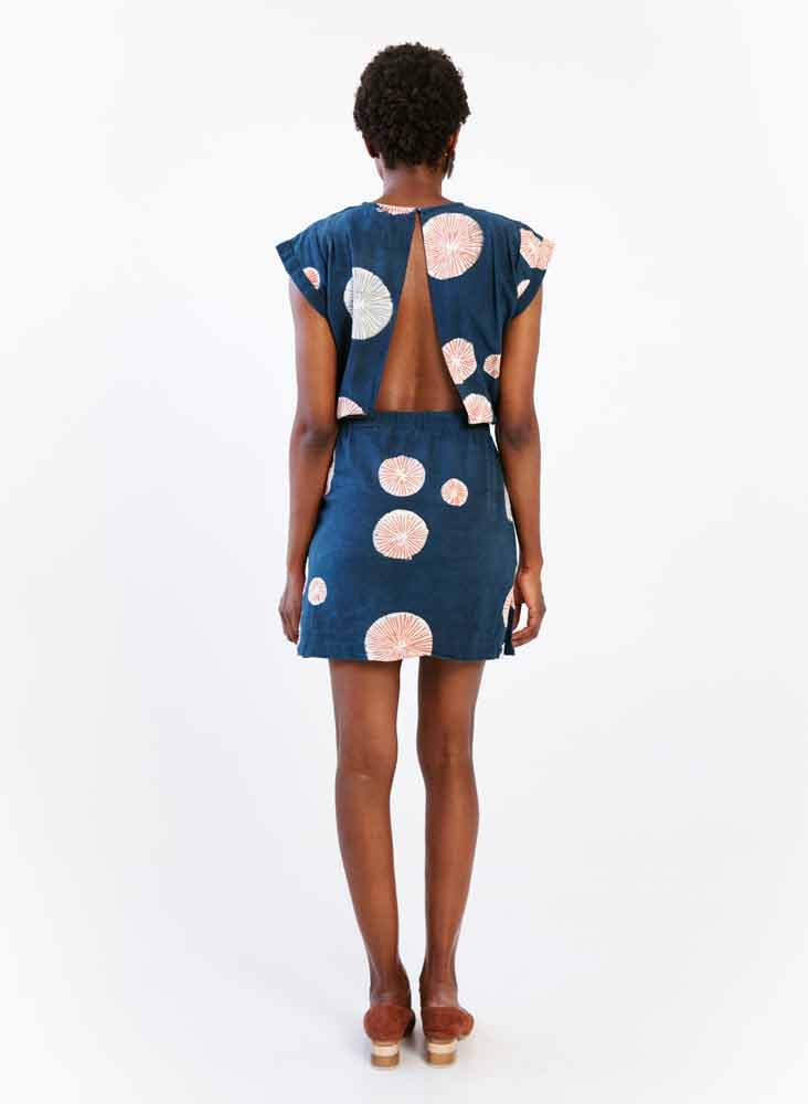Nena Dress, night bursts print