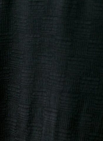 Pan Tank, coal black silk jacquard
