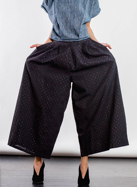 Savista pant, black flicker weave