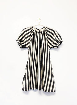 Archive Sale | Goa Dress, black + white stripe