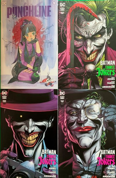 PEACH MOMOKO PUNCHLINE SPECIAL & BATMAN THREE JOKER #1 2 3 FULL SET