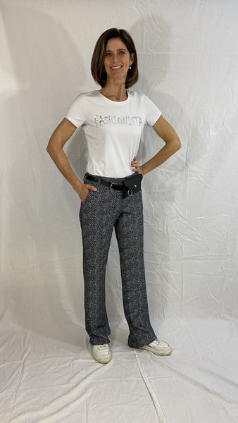 wide fit trousers with harts and belt