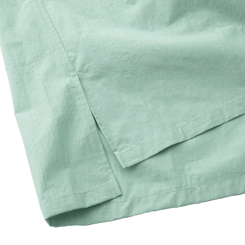 A.D.A.N / OPEN COLLAR SHIRT / GREEN