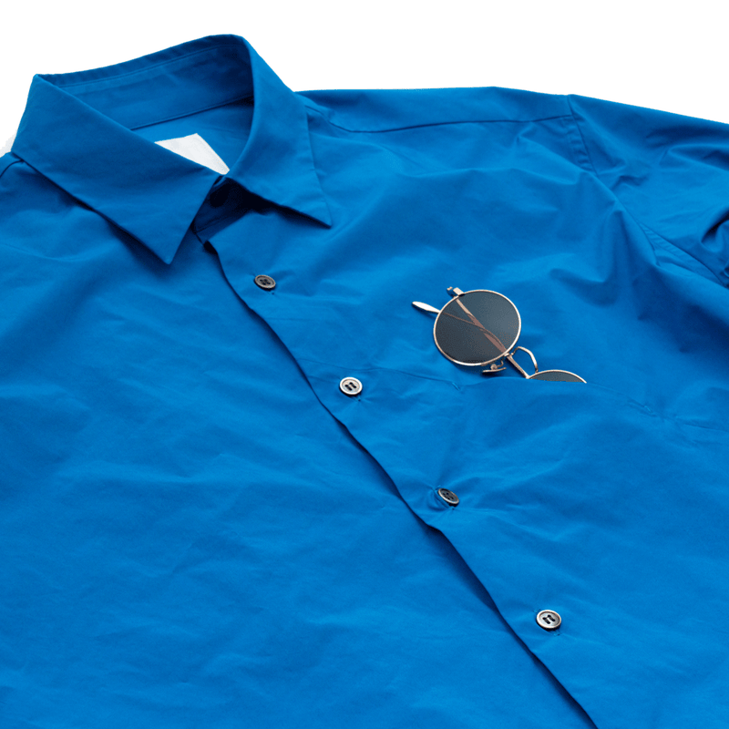 A.D.A.N / EW POC SHIRT SOLID / ROYAL BLUE