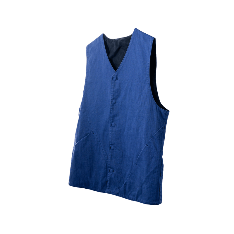 A.D.A.N /  CROSS A REVERSIBLE VEST / NAVY