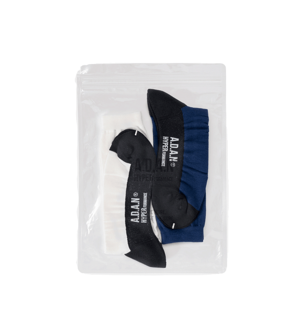 A.D.A.N /  TRACK SOCKS (2PAC SET) / NAVY WHITE