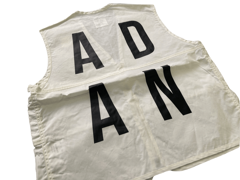 A.D.A.N /  No FISHING VEST /OFF WHITE