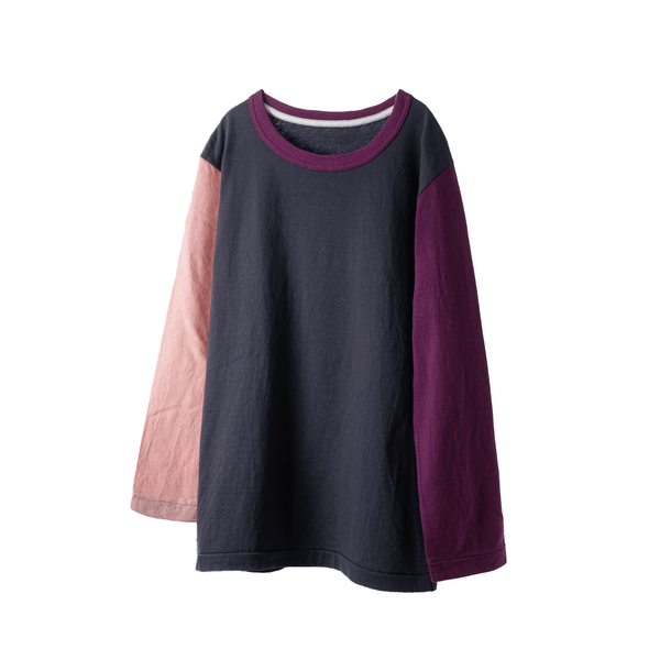 fit / CREW NECK CRAZY L/S T-SHIRTS  / PINK