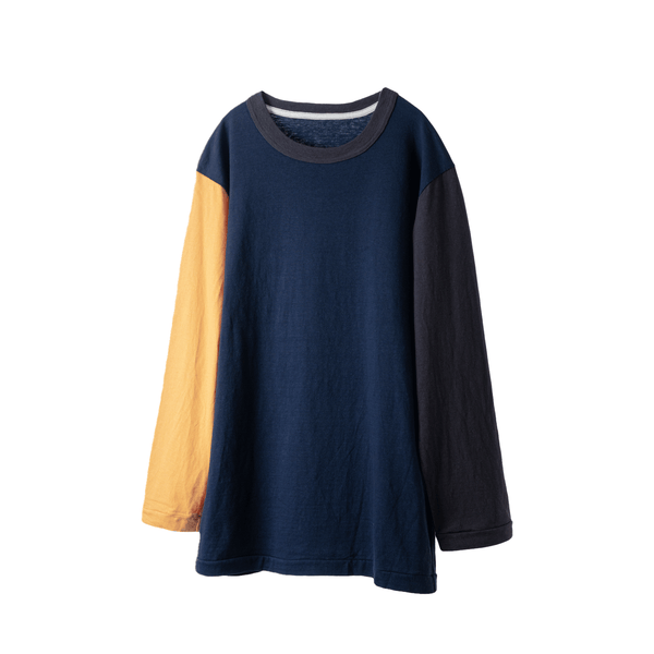 fit / CREW NECK CRAZY L/S T-SHIRTS  / NAVY