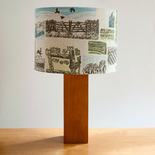 "Load image into Gallery viewer, April Sale 52. ""Farm Yarns"" lampshade, pendant fitting"
