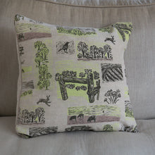 "Load image into Gallery viewer, April Sale 60. Farm Yarns ""Hare"" cushion cover yellow"