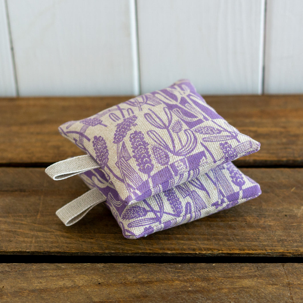 Set of two Lavender Bags with hanging loops