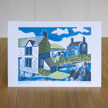 "Load image into Gallery viewer, ""Harbour Lane"" greetings card, blank inside"