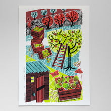 "Load image into Gallery viewer, ""Orchard Harvest"" screen print, limited edition"