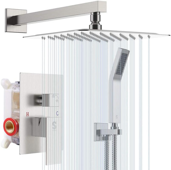 SR Sunrise Wall-Mounted Shower Head System in Brushed Nickel