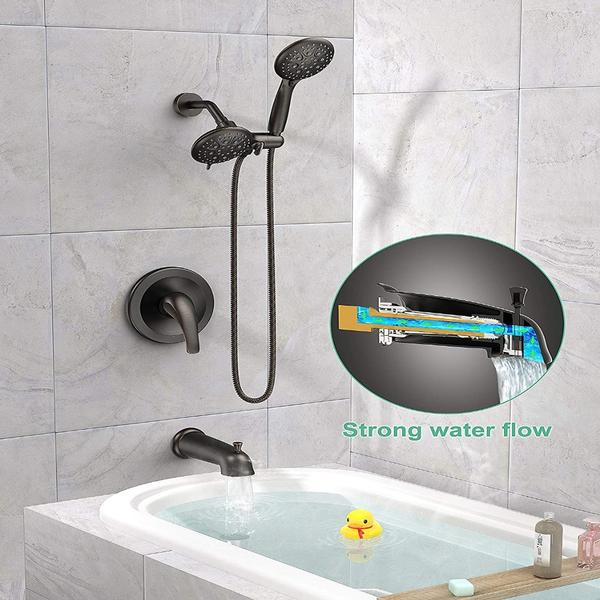 Oil-rubbed bronze dual 2-in-1 shower system combo from SR Sunrise