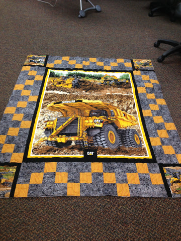 "CATerpillar ""Under Construction"" Lap Quilt KIT"