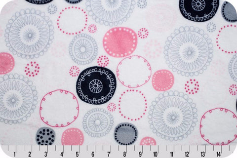 SHANNON Cuddle Print: Whimsey Circle Cuddle Pink