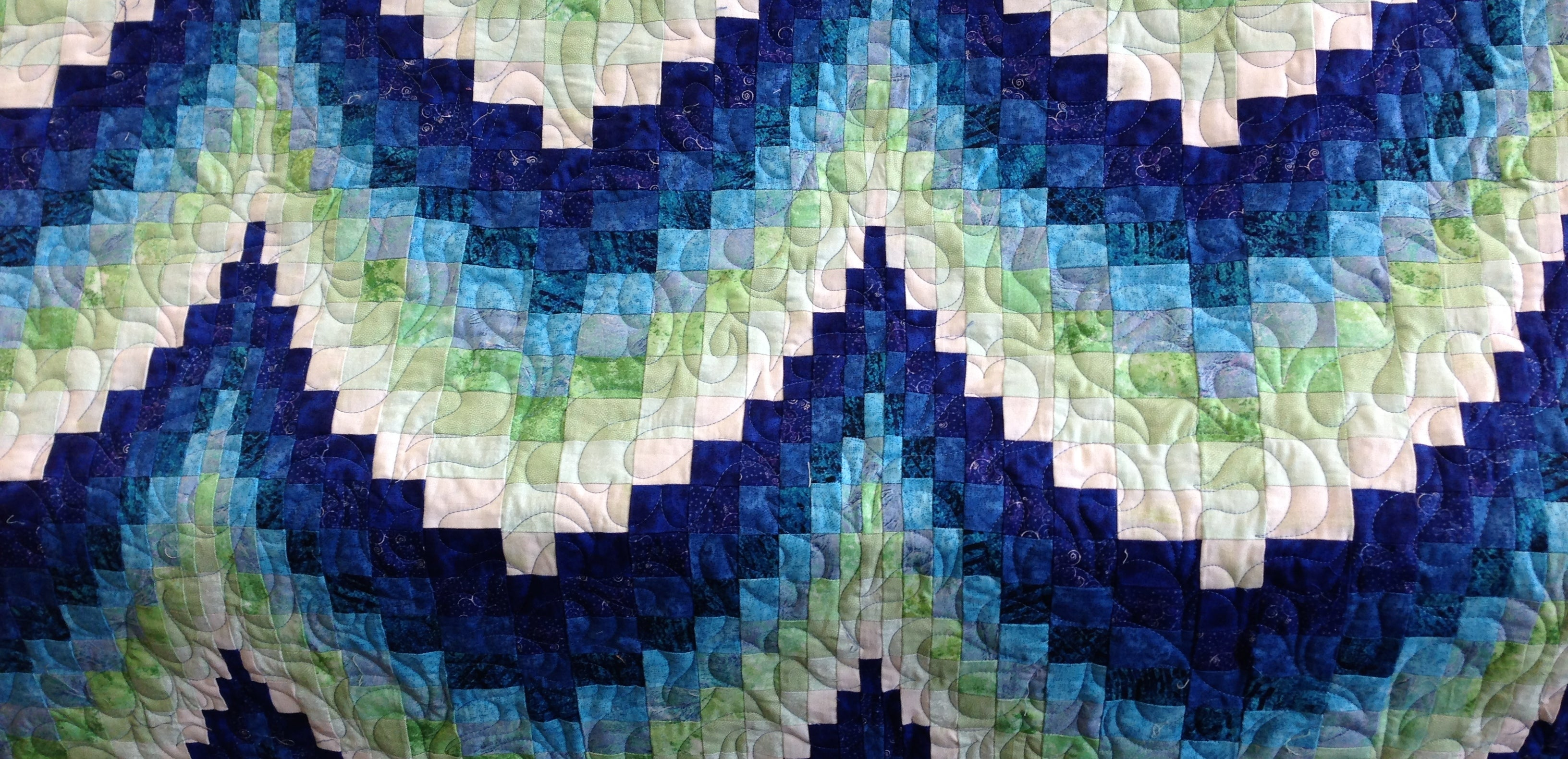 Customer Bargello quilted freehand by Suzy Q