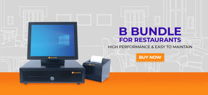 Bargain POS | B Bundle - POS terminal, receipt printer, & cash drawer
