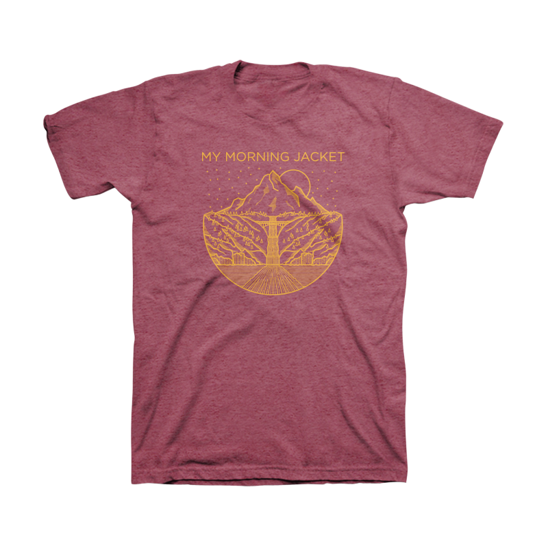 Gorge Tee (Burgundy Heather) - My Morning Jacket
