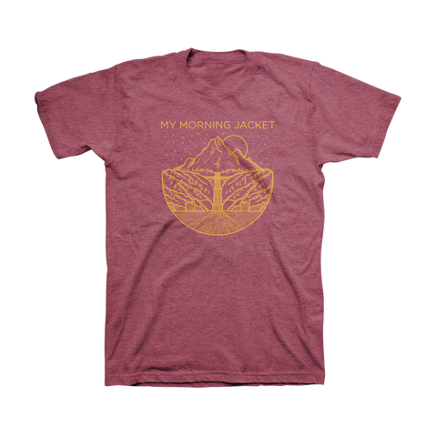 Gorge Tee (Burgundy Heather)