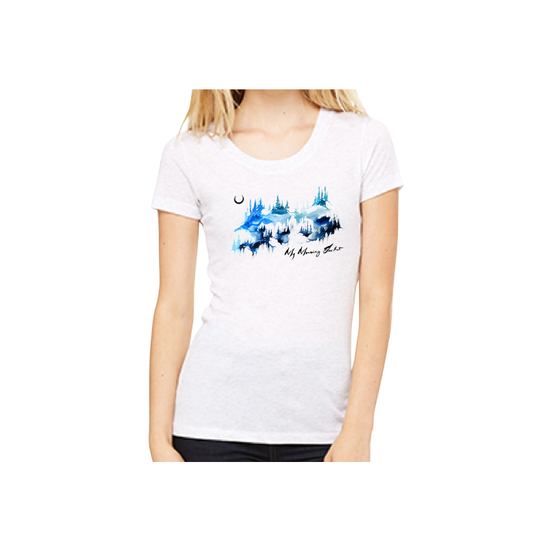 Watercolor Mountains Women's Tee - My Morning Jacket