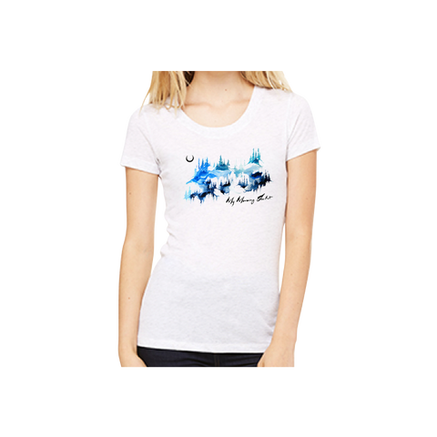 Watercolor Mountains Women's Tee