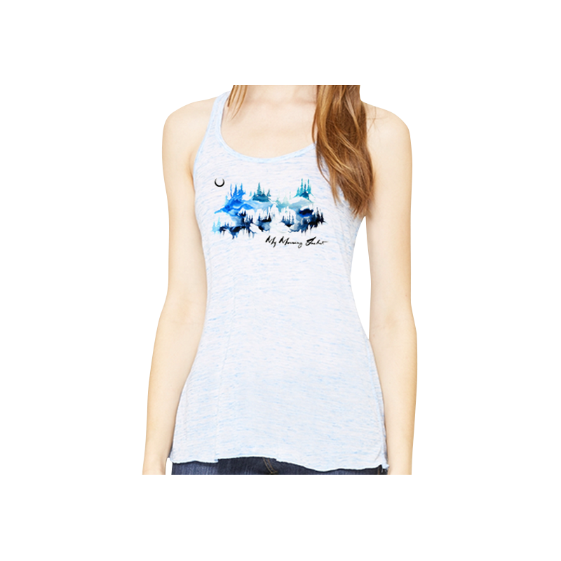 Watercolor Mountains Women's Tank - My Morning Jacket