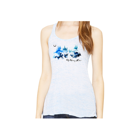 Watercolor Mountains Women's Tank