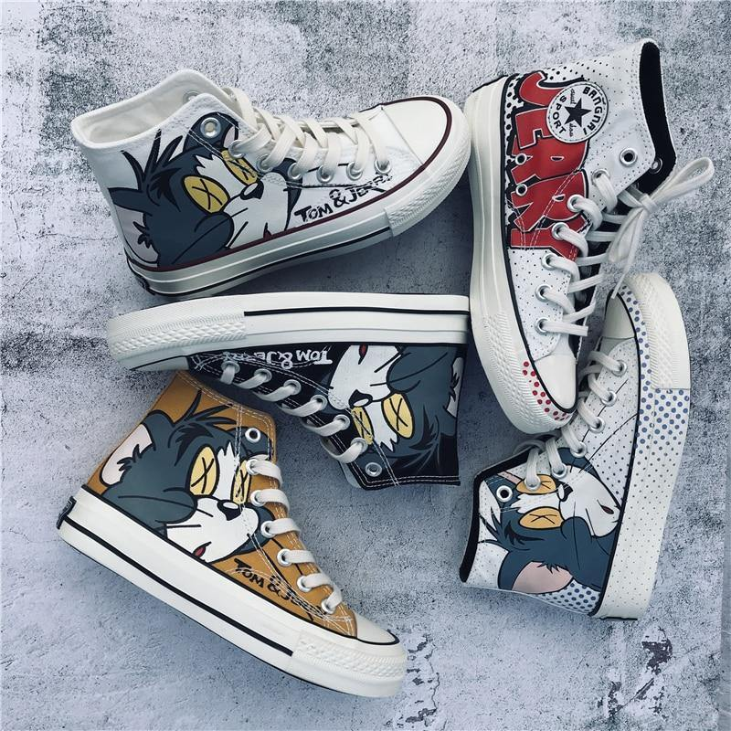Cartoon Printed Trendy Sneakers for Women - Ternzo