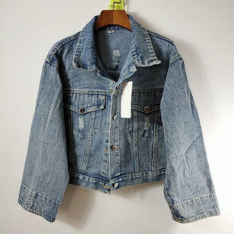 Jean short Korean style jacket for women - Strikemall
