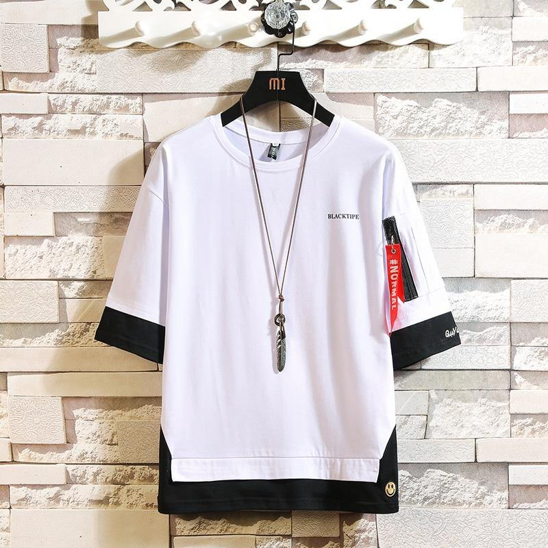 Stylish loose t-shirt for men - Strikemall