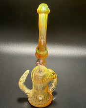 Load image into Gallery viewer, DZ Glass Fumed Wrap N Rake Bubbler - TheSmokeyMcPotz Collection